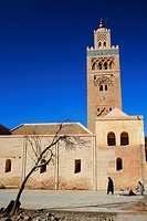 Morocco, Central Morocco, Marrakesh  The Koutoubia Mosque, photographed on a mid-winters day in Marrakesh