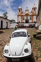 Brazil, Minas Gerais, historic city of Tiradentes, Santo Antônio church, originated from a wooden chapel in 1702, the time of the first explorers. Its...