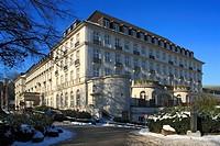 D-Aachen, Rheinland, Nordrhein-Westfalen, Bad Aachen, Kurzentrum, Quellenhof, Hotel, Neoklassizismus, winterlich, Schnee, D-Aix-la-Chapelle, Rhineland...