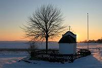 D-Linnich, Rur, Juelicher Boerde, Koelner Bucht, Lower Rhine, Rhineland, North Rhine-Westphalia, D-Linnich-Gevenich, Saint Barbara Chapel of the congr...