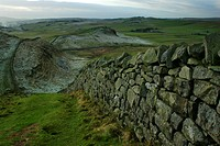 England, Northumberland, Hadrians Wall, The world heritage site of Hadrians Wall near the town of Haltwhistle