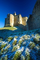 England, Northumberland, Warkworth Castle, Warkworth Castle English Heritage, a magnificent 12th century stone motte and bailey fortress, located near...