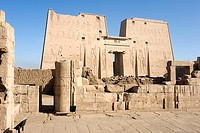 Temple of Edfu dedicated to the falcon_god Horus. Tell el_Balamoun, Egypt