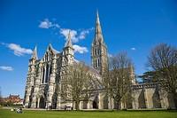 Salisbury Cathedral. Salisbury. Wiltshire. England. UK.