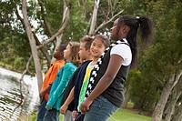fort lauderdale, florida, united states of america, a group of preteens standing together in a park