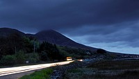 Republic of Ireland, County Mayo, Westport , Traffic trails near Westport in County Mayo.