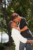 fort lauderdale, florida, united states of america, a couple in an embrace in a park