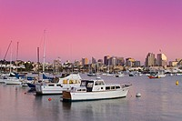 San Diego skyline at twilight, California, USA