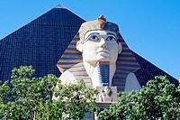 Pyramid and Sphinx at The Luxor hotel and casino on The Strip, Las Vegas, Nevada, USA