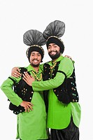 Bhangra the traditional folk dance from Punjab in North India