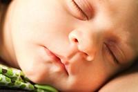 a sleeping infant