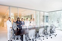 Businesswomen standing in office conference room