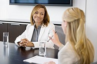 Businesswomen having meeting in conference room