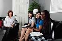 woman having a bible study