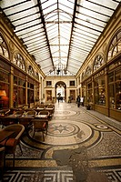 covered gallery passage in Paris, France