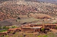 Landscape in Taddert area, High Atlas, Morocco