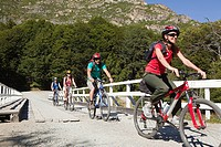 Four people cycling (thumbnail)