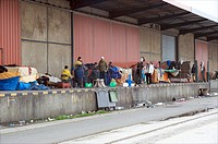 Calais, palestinian refugees hoping to reach the UK