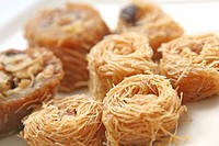 Arabic Sweets Pastries, Konafa with nuts