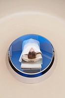 Patient going through an MRI scan