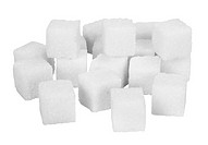Close_up of sugar cubes