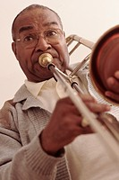 Man playing the trombone