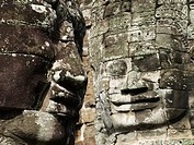 Sculpture detail in Bayon temple, Angkor Wat