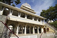 Exterior view of City Palace, Udaipur, Rajasthan, India