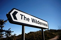 Road Sign Pointing to The Wilderness