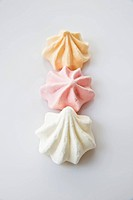 Three meringues shells