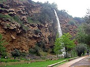 El Salto de la Novia The fiance waterfall Navajas village Castellon province Alto Palancia Spain