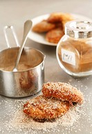 Pear and almond cakes with cinnamon sugar