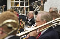 Otley Brass Band Yorkshire England UK