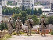 soldiers, fortress, tvrdina kale, skopje, macedonia