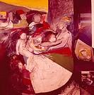 Mrs. G. and her Children, by Edward Giobbi, 20th Century