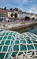 Close_up of a commercial fishing net in a harbor, Youghal, County Cork, Ireland