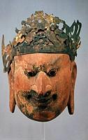 Gigaku Mask, circa 7th Century,, Japan, Tokyo, National Museum