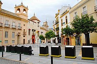 Little square formed by the Calle de Santa María la Blanca and the Calle Ximenez de Enciso in the Santa Cruz Quarter The top of  the Santa Maria la Bl...