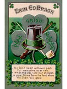 An Irish poem printed on a vintage card
