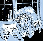 A woman reading a letter and crying (thumbnail)