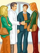 A group of family members speaking with a doctor (thumbnail)