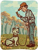 A man training a dog (thumbnail)