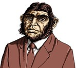 Businessman with apes head