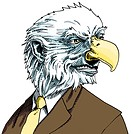 Businessman with eagles head