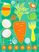 An illustration about carrots in food