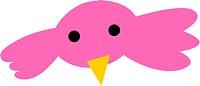 A pink bird