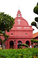 Malaysia, Melaka State, Portugis Square, Church (thumbnail)