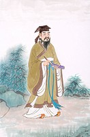 Wang Xizhi, a Chinese historical man who was very famous for his fine calligraphy art