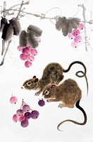 Chinese Fine art, Traditional Chinese Painting, Year of The Rat