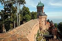 HAUT_KOENIGSBOURG CASTLE, ORSCHWILLER, BAS RHIN 67, ALSACE, FRANCE, EUROPE